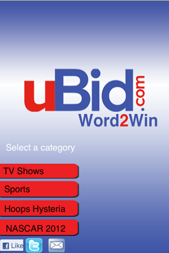 Screenshot uBid Word2win